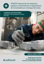 Preparación de máquinas, equipos y herramientas en operaciones de mecanizado por arranque de viruta. FMEH0109  (ebook)