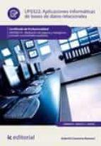 Aplicaciones informáticas de bases de datos relacionales. ADGN0210  (ebook)