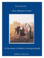 Dear Minister Poletti (ebook)