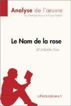 Le Nom de la rose d'Umberto Eco (Analyse de l'œuvre) (ebook)