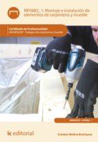 Montaje e instalación de elementos de carpintería y mueble. MAMD0209