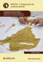 Preparación de materias primas. INAD0108 (ebook)