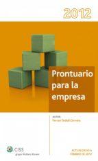 PRONTUARIO PARA LA EMPRESA 2012