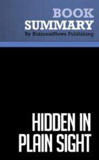Summary: Hidden in Plain Sight - Erich Joachimsthaler (ebook)