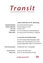 Transit 34. Europäische Revue (ebook)