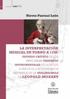 LA INTERPRETACIÓN MUSICAL EN TORNO A 1750