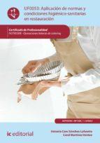 Aplicación de normas y condiciones higiénico-sanitarias en restauración. HOTR0308 (ebook)