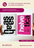 Composición de textos en productos gráficos. ARGG0110 (ebook)