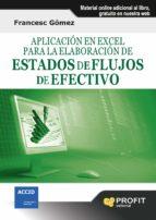 Aplicación en Excel para la elaboración de estados de flujo de efectivo