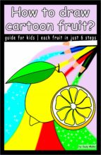 HOW TO DRAW CARTOON FRUIT?
