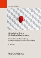GEMEINDEORDNUNG FÜR BADEN-WÜRTTEMBERG