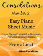 Consolations Number 2 Easy Piano Sheet Music (ebook)