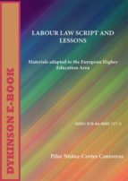 Labour Law Script And Lessons. Materials adapted to the European Higher Education Area