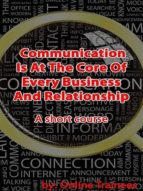 COMMUNICATION IS @ THE CORE OF EVERY BUSINESS & RELATIONSHIP