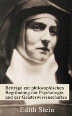 Beiträge zur philosophischen Begründung der Psychologie und der Geisteswissenschaften (ebook)