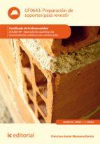 Preparación de soportes para revestir. EOCB0109
