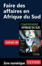 FAIRE DES AFFAIRES EN AFRIQUE DU SUD