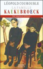 La Famille Kaekebroeck (ebook)