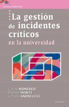 La gestión de incidentes críticos en la Universidad (ebook)