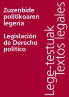 ZUZENBIDE POLITIKOAREN LEGERIA/LEGISLACIÓN DE DERECHO POLÍTICO