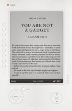 You Are Not A Gadget (ebook)