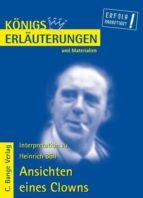 Ansichten eines Clowns von Heinrich Böll. Textanalyse und Interpretation. (ebook)