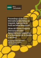 Proceedings of the first international workshop on linguistic approaches to food and wine description