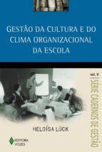 GESTÃO DA CULTURA E DO CLIMA ORGANIZACIONAL DA ESCOLA VOL. V