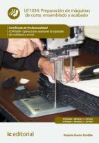 Preparación de máquinas de corte, ensamblado y acabado. TCPF0209