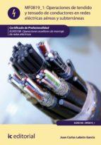 Operaciones de tendido y tensado de conductores en redes eléctricas aéreas y subterráneas. ELEE0108