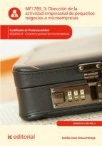 Dirección de la actividad empresarial de pequeños negocios o microempresas. ADGD0210 (ebook)