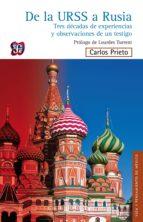 De la URSS a Rusia (ebook)