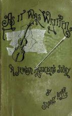 As It Was Written (ebook)
