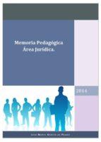 MEMORIA PEDAGÓGICA ÄREA JURÍDICA (ebook)
