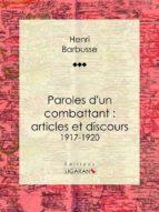 Paroles d'un combattant : articles et discours (ebook)