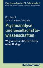 Psychoanalyse und Gesellschaftswissenschaften (ebook)