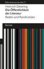 Die Öffentlichkeit der Literatur (ebook)